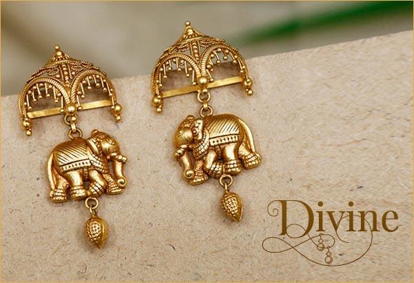 Gold Earrings Design