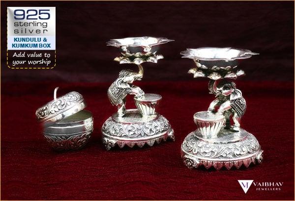 Silver Pooja Items Design